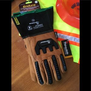 Other - NWT Goatskin Winter Safety Gloves